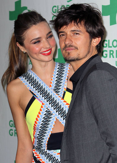 Miranda Kerr and Orlando Bloom walked the red carpet together.