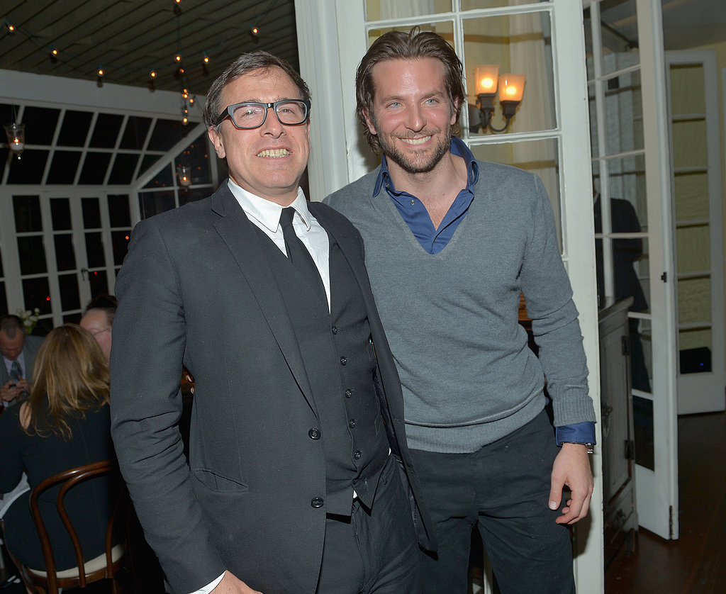 David O. Russell mingled with Bradley Cooper.