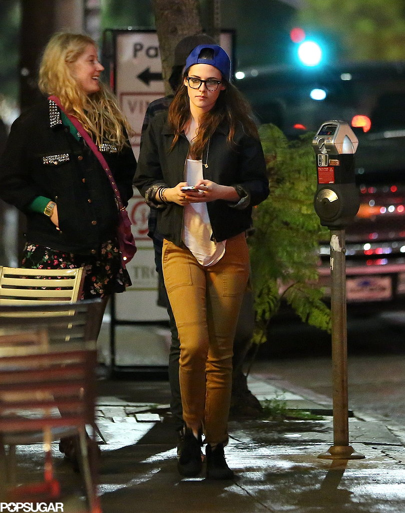 Kristen Stewart linked up with friends for a night out in LA ahead of her appearance as a presenter at Sunday's Oscars.
