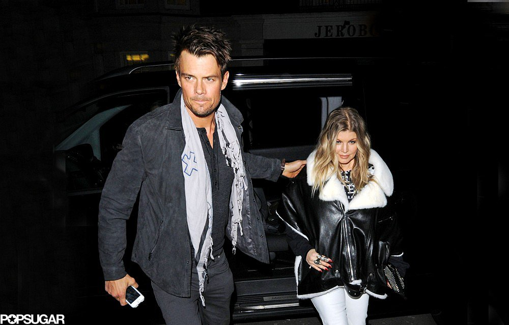 Josh Duhamel and Fergie went to a restaurant in London.