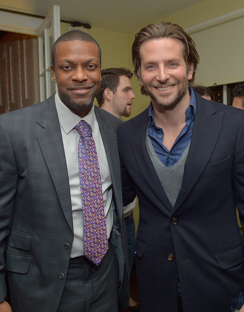 Chris Tucker hung out with Bradley Cooper at the Silver Linings Playbook party on Wednesday night.