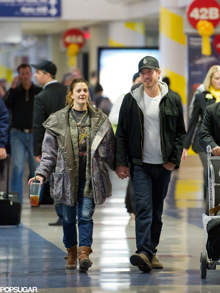 Drew Barrymore and Will Kopelman caught a flight out of LAX in November 2011.