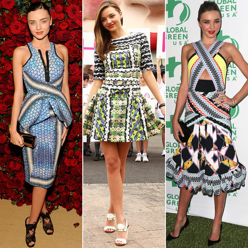Miranda Kerr Wearing Peter Pilotto Dresses