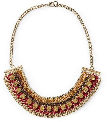 Sabine Woven Chain Statement Necklace