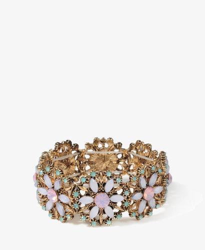 FOREVER 21 Rhinestoned Flower Star Bracelet