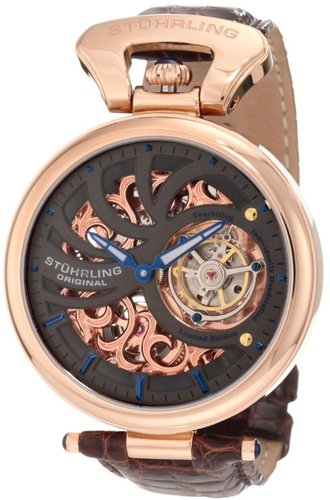 Stuhrling Original Men's 127C.334XK54 Special Reserve Emperors Tourbillon Limited Edition Mechanical Rosetone Watch