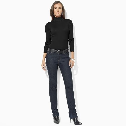 Ralph Lauren Cotton Long-Sleeved Turtleneck