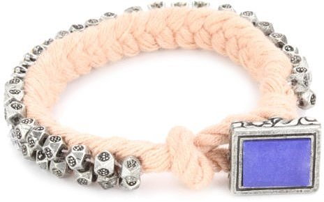Juicy Couture War Of Love Pink Ribbon and Chain Bracelet