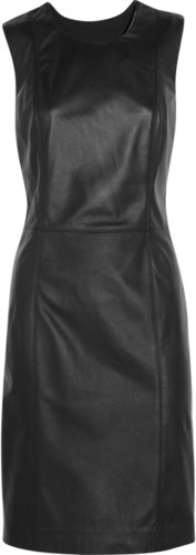 Maison Martin Margiela Leather and wool dress