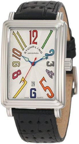 Stuhrling Original Men's 102.33152 Lifestyles Uptown Ozzie Swiss Quartz Date Silvertone Watch