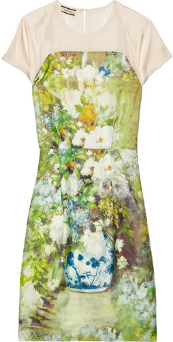 By Malene Birger Floral-print silk-twill dress
