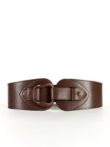 Streets Ahead Wide Leather Waist Belt with Covered Buckle
