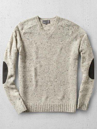Vince Tweeded V-Neck Sweater