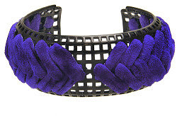 Giles & Brother Graph Lacquer Cuff With Woven Suede