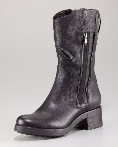 Vera Wang Lavender Evie Zip Detail Motorcycle Boot