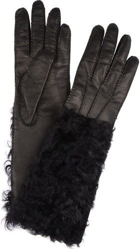 Dolce & Gabbana Leather and shearling gloves