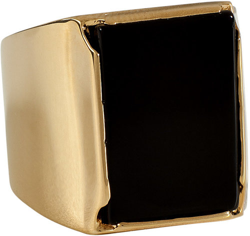 Maison Martin Margiela Gold-Toned Metal Tricolor Ring