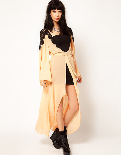 Thirty Four Disciples Chiffon and Lace Kimono