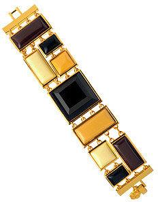 Trina Turk Gold Mosaic Bracelet