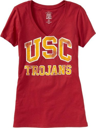 Women's College Team V-Neck Tees