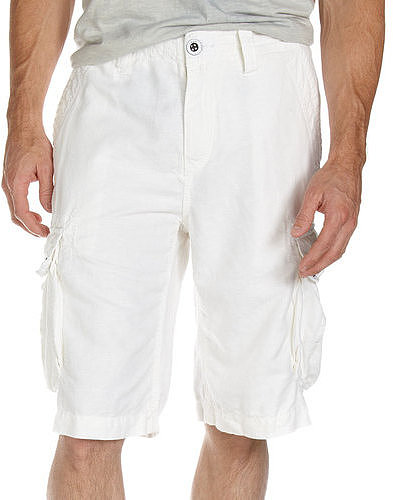 Union Aloha Cargo Shorts, White