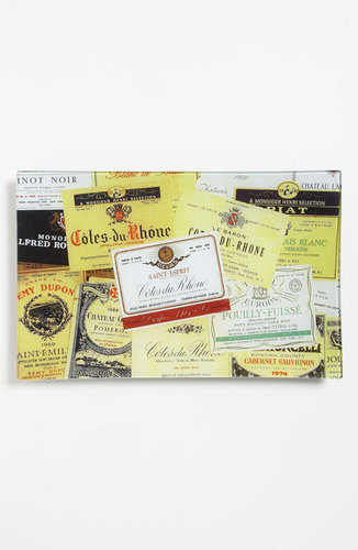 Ben's Garden 'Vintage Wine Labels' Decorative Glass Tray