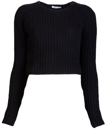 T By Alexander Wang Chunky Half Cardi Top