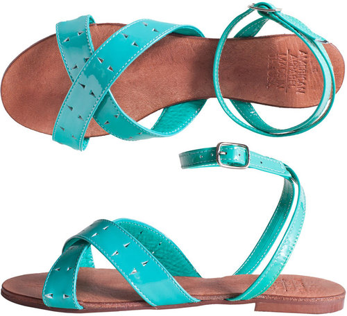 Leather Criss Cross Flat Sandal