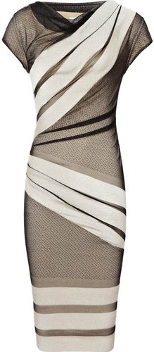 Alexie STRIPE LACE DRESS