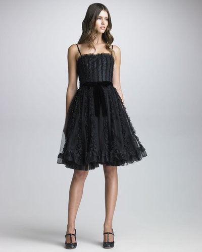 RED Valentino Organza Ruffled Tulle Dress