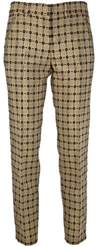 N° 21 brocade straight leg trouser