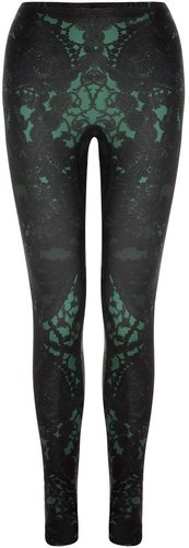 Amaranth Victorian Lace Leggings