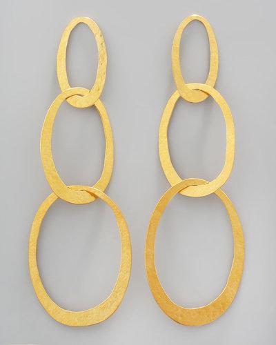 Herve Van Der Straeten Three-Link Drop Earrings
