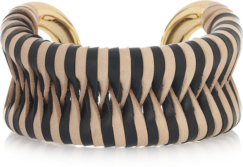 Giles & Brother Cortina 10-karat gold-plated leather cuff