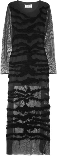 Maison Martin Margiela Embroidered stretch-mesh maxi dress