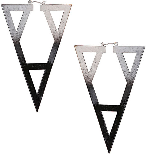 Ombre Geo Cut Out Earrings