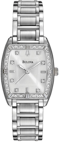 Bulova Watch, Women's Diamond Accent Stainless Steel Bracelet 24mm 96R162