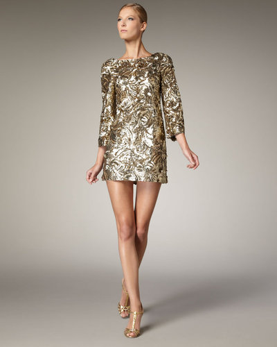 Marchesa Couture Sequined Shift Dress