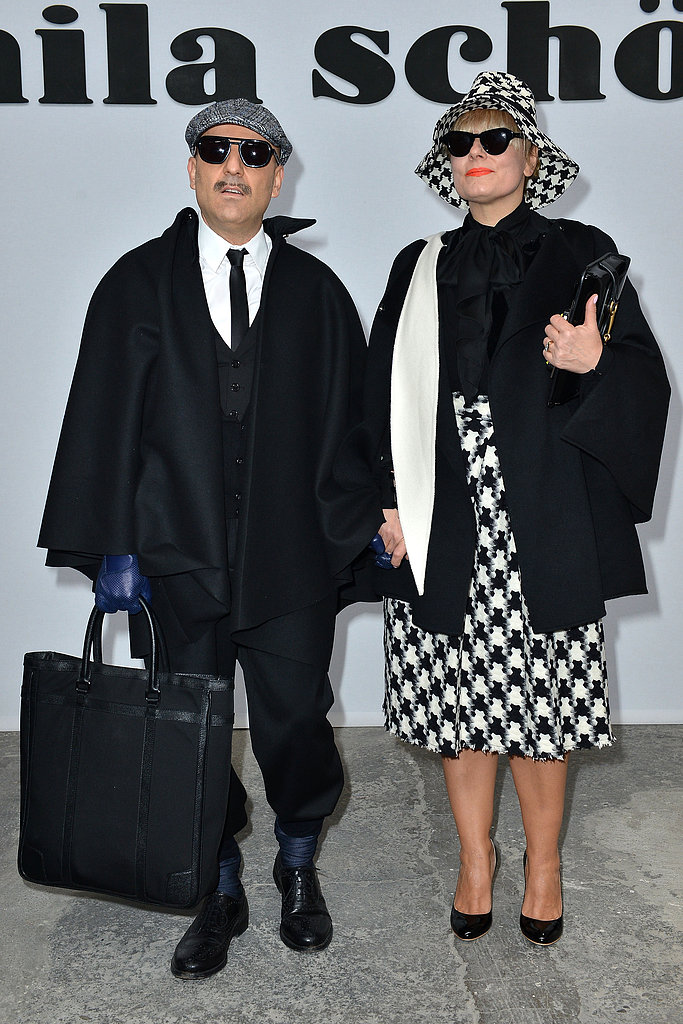 Antonio and Roberta Murr at the Mila Schön Fall 2013 show in Milan.