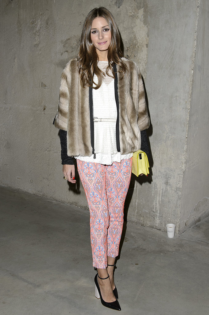 Olivia Palermo wore Tibi at the Topshop Unique Fall 2013 show in London.