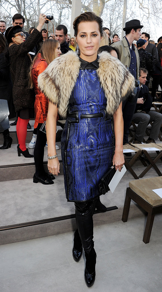 Yasmin Le Bon at the Burberry Fall 2013 show in London.