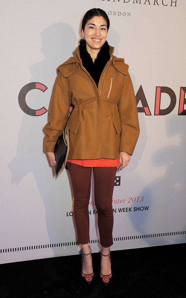 Caroline Issa at the Anya Hindmarch Fall 2013 show in London.