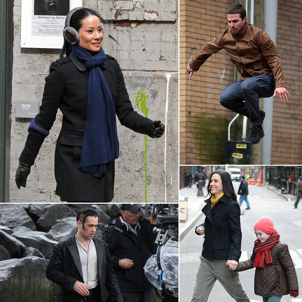 Jennifer Connelly, Colin Farrell, Lucy Liu, and More Stars on Set