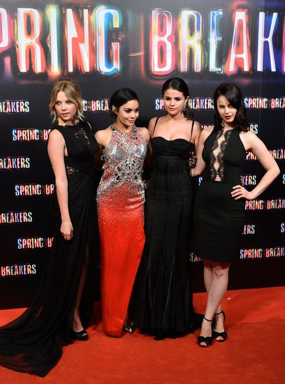 Selena Gomez Goes Glam to Bring Spring Breakers to Madrid