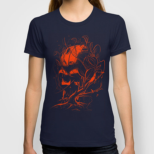 Everyone knows a neglected Darth Vader helmet gets covered in vines, as it does on this t-shirt ($22).