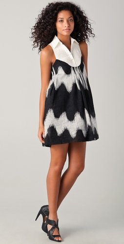 L.a.m.b. Oversized Zigzag Mini Dress