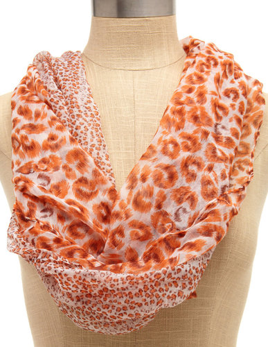 Mixed Brown Leopard Scarf