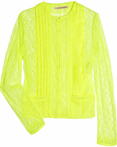 Christopher Kane Keke neon lace jacket