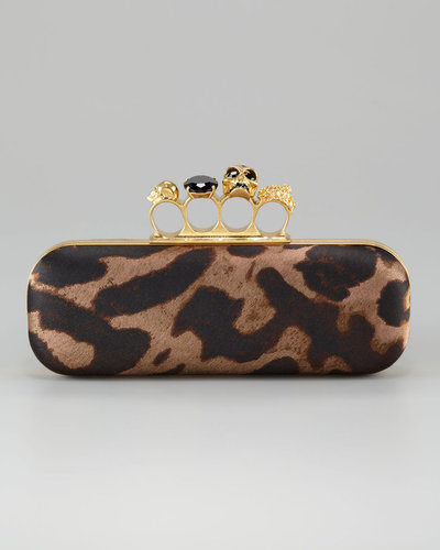 Alexander McQueen Knuckle-Duster Oblong Clutch Bag