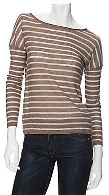 Vince Linen Striped Sweater
